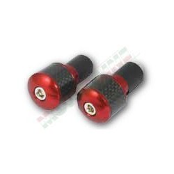 Kormányvégsúly carbon betéttel Piros