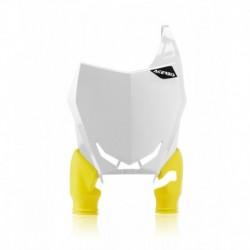 Raptor rajtszám tartó első fehér-sárga