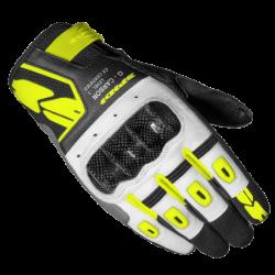 Kesztyű G-Carbon Lady XL fekete-fehér-fluo sárga