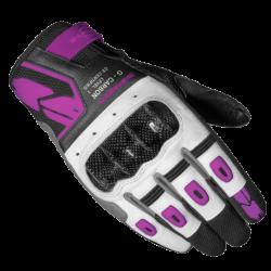 Kesztyű G-Carbon Lady XS fekete-fehér-rózsaszín
