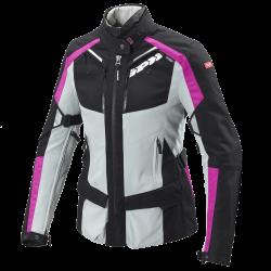 Kabát 4Season Lady L fekete-szürke-rózsaszín