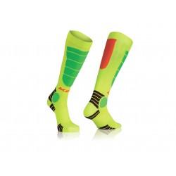 Acerbis zokni MX Impact Kid L/XL sárga-narancs-zöld