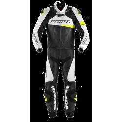Spidi Sport bőroverál Race Warrior Touring 56 fekete-fehér-fluo sárga