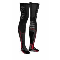 Zokni X-Leg Pro XXL fekete-piros