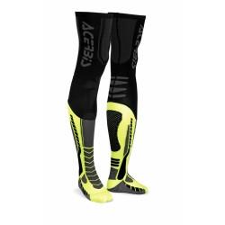 Zokni Y-Leg Pro XXL fekete-fluo sárga