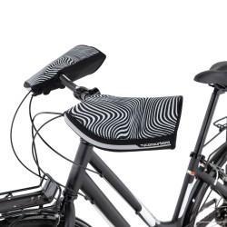 Kézvédő kerékpáros City fekete-fehér